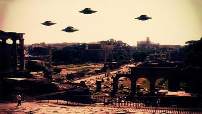Ufo Rome Poster by Raphael Terra
