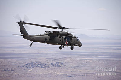 Uh-60 Black Hawk Takes Poster by Terry Moore