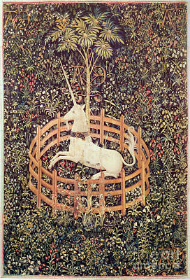 Unicorn Tapestry Poster by Lionel F Stevenson