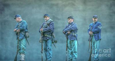 Union Civil War Soldiers  Poster