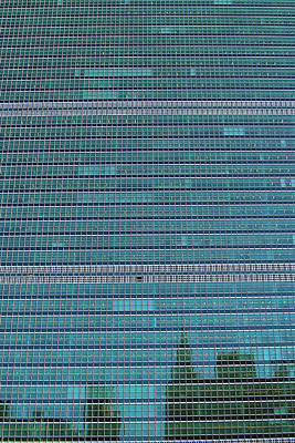 Poster featuring the photograph United Nations Secretariat Building by Mitch Cat