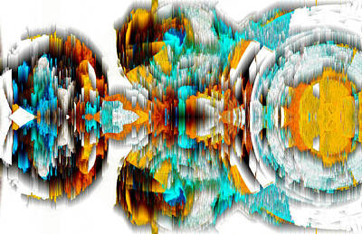 Poster featuring the digital art Untitled Series 992.042212 -c by Kris Haas