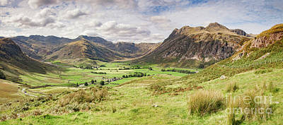 Poster featuring the photograph Upper Langdale, English Lake District by Colin and Linda McKie