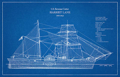 U.s. Coast Guard Revenue Cutter Harriet Lane Poster by Jose Elias - Sofia Pereira