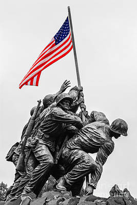 Us Marine Corps War Memorial Poster by Henk Meijer Photography