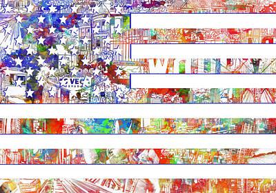 Usa Flag 13 Poster