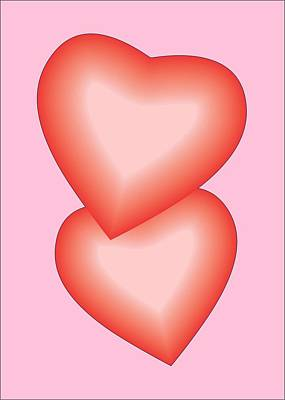 Poster featuring the digital art Valentine Hearts by Sherril Porter