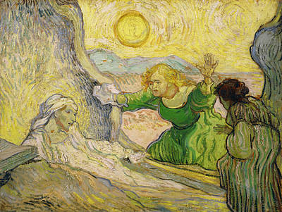 Van Gogh Raising Of Lazarus After Rembrandt Poster by Vincent van Gogh