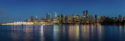 Poster featuring the photograph Vancouver City Twilight by Pierre Leclerc Photography