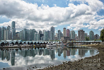 Vancouver Skyline Poster by Patricia Hofmeester