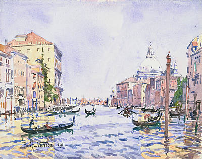 Venice - Afternoon On The Grand Canal Poster by Edward Darley Boit