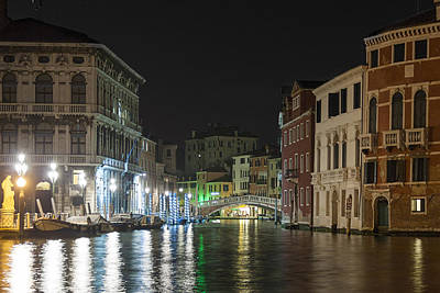Poster featuring the photograph Romantic Venice  by Silvia Bruno
