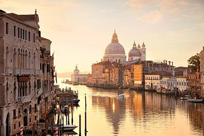Poster featuring the photograph Venice Grand Canal View by Songquan Deng