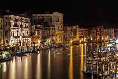 Venice View From Rialto Bridge Poster