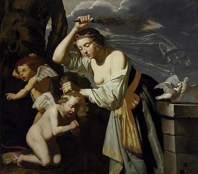 Venus Chastising Cupid Poster by Jan Van Bijlert