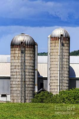 Vermont Silos Poster by Edward Fielding