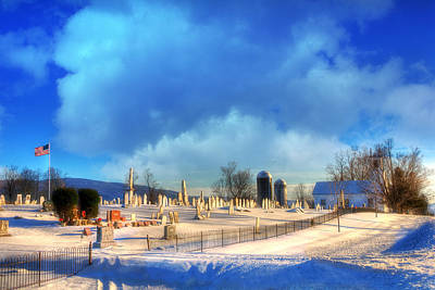Vermont Winter Scene Poster by Joann Vitali