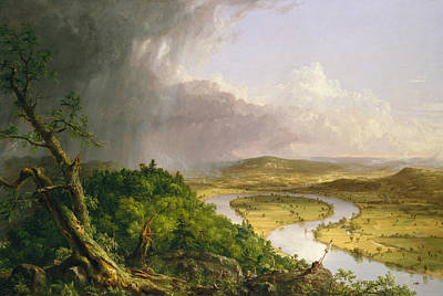 View From Mount Holyoke, Northampton, Massachusetts, After A Thunderstorm - The Oxbow Poster
