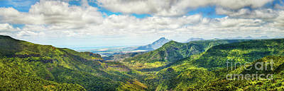 View From The Gorges Viewpoint. Mauritius. Panorama Poster