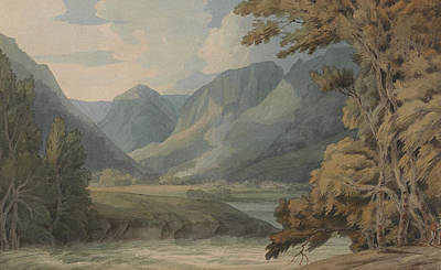 View In Borrowdale Of Eagle Crag And Rosthwaite Poster