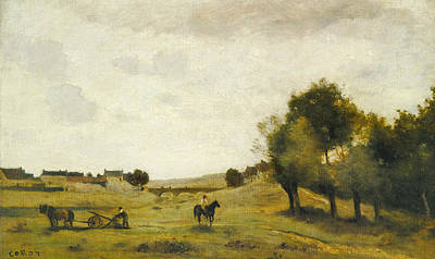 View Near Epernon Poster by Jean-Baptiste-Camille Corot
