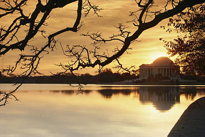 View Of The Jefferson Memorial Poster by Richard Nowitz