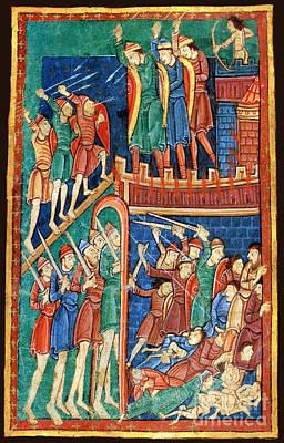 Vikings Invade England 9th Century Poster