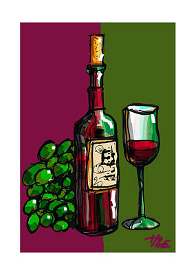 Vino Poster by Haze Westerlund