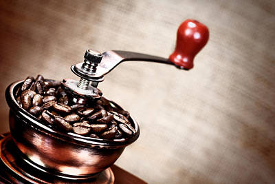 Vintage Coffee Mill Poster by Boyan Dimitrov