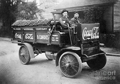 Vintage Coke Delivery Truck Poster by Jon Neidert