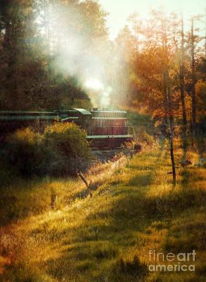 Vintage Diesel Locomotive Poster by Jill Battaglia