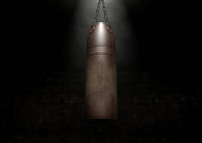 Vintage Leather Punching Bag Poster by Allan Swart