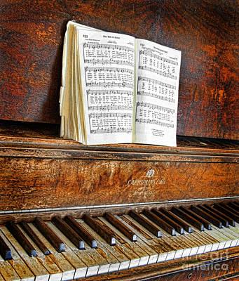 Vintage Piano Poster by Jill Battaglia