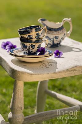 Vintage Teacups Poster by Amanda Elwell