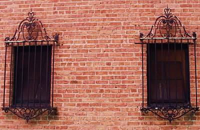 Vintage Window Grates 3 Poster by Anna Villarreal Garbis