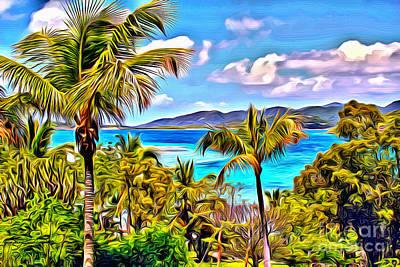 Virgin Islands Poster by Carey Chen