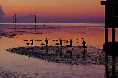 Walking On The Sea Poster by Okan YILMAZ