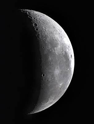 Waning Crescent Moon Poster by John Sanford