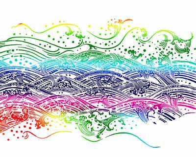 Water Pattern Poster by Setsiri Silapasuwanchai