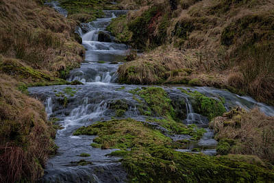 Poster featuring the photograph Waterfall At Glendevon In Scotland by Jeremy Lavender Photography