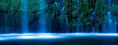 Waterfall In A Forest, Mossbrae Falls Poster by Panoramic Images