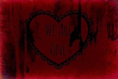 We Are One Poster by Chastity Hoff