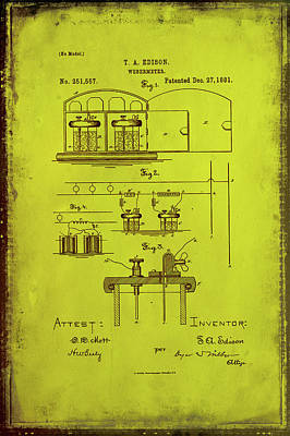 Webermeter Patent Drawing 1g Poster