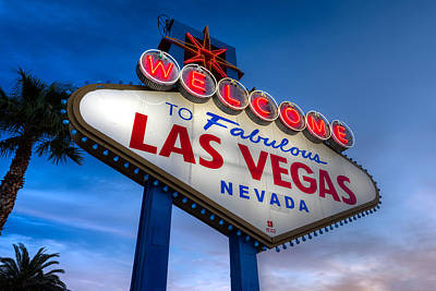 Welcome To Las Vegas Poster by Steve Gadomski
