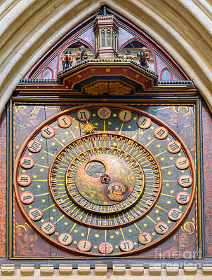 Wells Cathedral Clock Poster