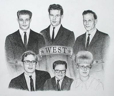 Poster featuring the drawing West by Mike Ivey