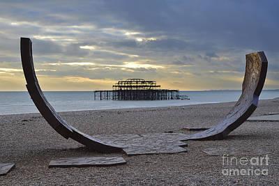 West Pier Brighton Poster by Nichola Denny