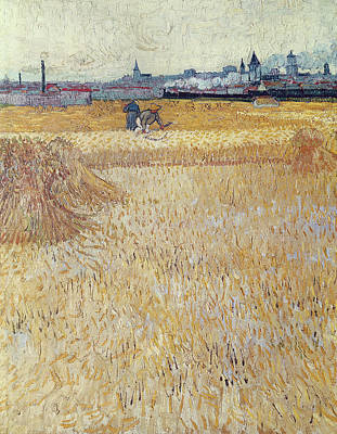 Wheatfield With Sheaves Poster