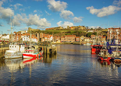 Whitby Harbour Poster by Keith Sayer