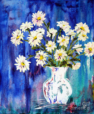 White Daisies Poster by Lynda Cookson